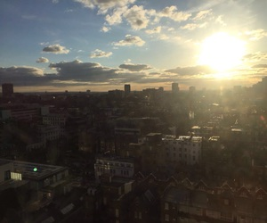 city, sky, and london image