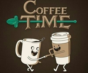 coffee, adventure time, and coffee time image