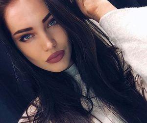 girl, style, and makeup image
