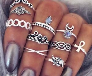 bohemian, grunge, and rings image