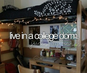 college, dorm, and Dream image