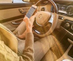 car, interior, and mercedes image