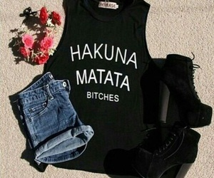 fashion, outfit, and hakuna matata image