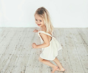 baby, blonde, and dress image
