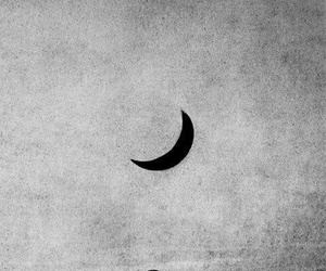 moon, black and white, and art image