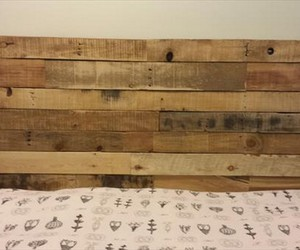 pallet headboard, upcycled pallet, and diy pallet headboard image