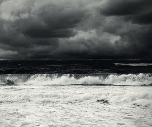 sea, storm, and waves image