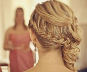 hair, braid, and blonde image
