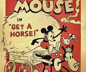 disney, mickey mouse, and horse image
