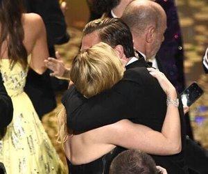 hug, kate winslet, and leonardo dicaprio image