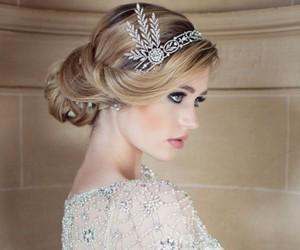 beautiful, bride, and hair image