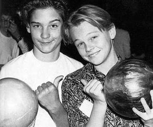 leonardo dicaprio, Tobey Maguire, and bowling image