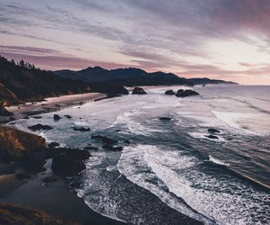 sea, beach, and nature image
