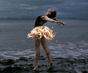 fire, dance, and ballet image