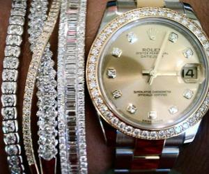rolex, watch, and bracelet image