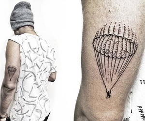 parachute, simple, and tatouage image