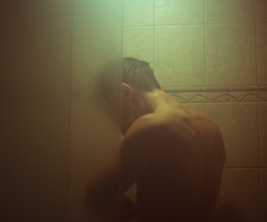 guy and shower image