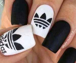 nail art, unghie, and adidas image