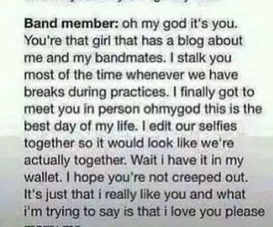 band members, fangirls, and fanboys image