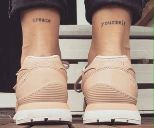 tattoo, shoes, and create image
