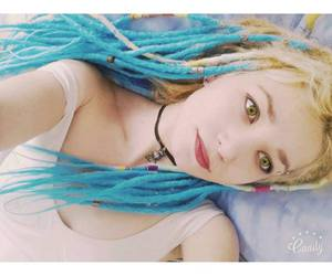 blue, dreads, and yellow image