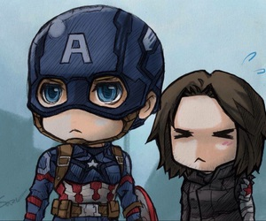 bucky, steve rogers, and winter soldier image