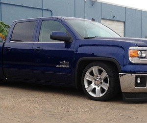 blue, gmc, and truck image