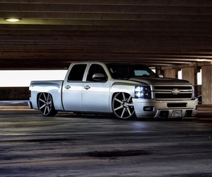 chevy, custom, and silver image