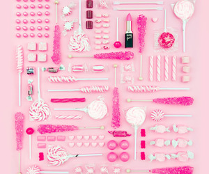 lipstick, pink, and candy image