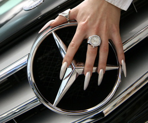 nails, mercedes, and car image