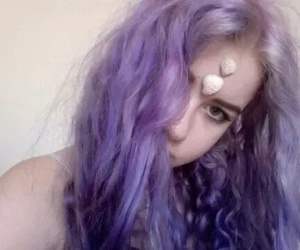 purple, hair color, and purplehair image
