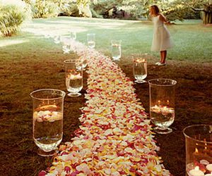 flowers, wedding, and petals image