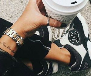 fashion, shoes, and coffee image