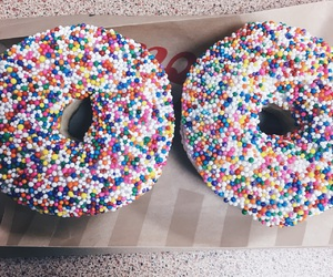colorful, donut, and food image