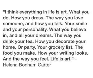 art, helena bonham carter, and life image