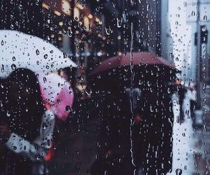 rain, umbrella, and people image