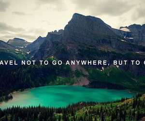 travel, quote, and mountain image