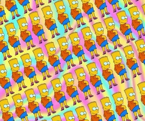 background, bart, and the simpsons image