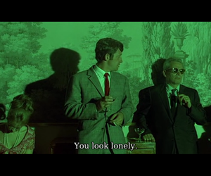 french, lonely, and pierrot le fou image