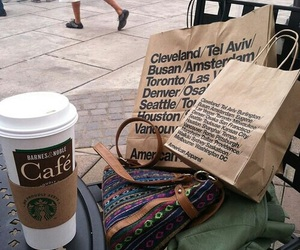 bags, shopping, and coffee image