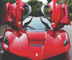 car, ferrari, and red image