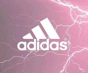 adidas, background, and lightning image