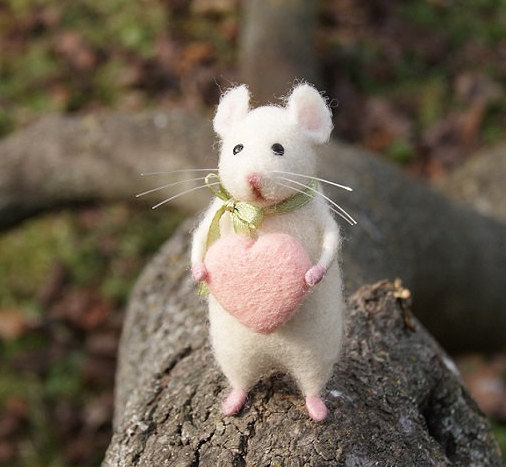 etsy, home decor, and white mouse image