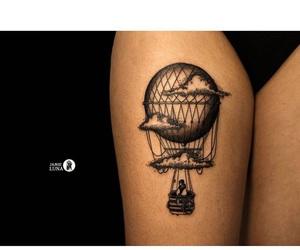 2016, air balloon, and black image