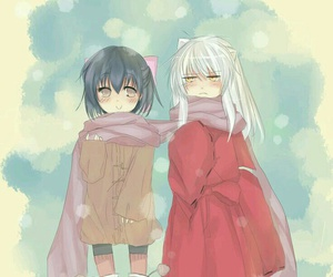 inuyasha and anime couple image