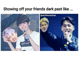 exo, memes, and funny pictures image