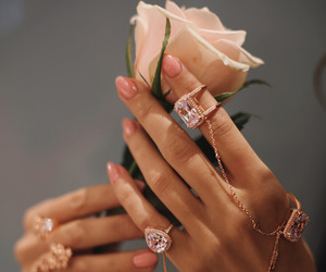 accessories, nails, and pink image