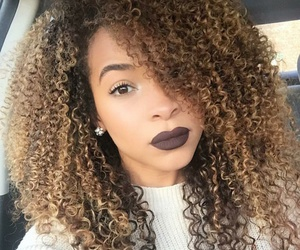 hair, curls, and curly hair image