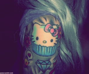 tattoo, hello kitty, and girl image