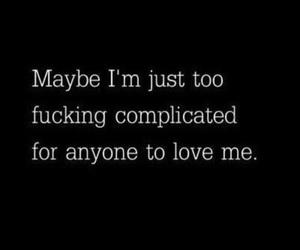 complicated, people, and sad image